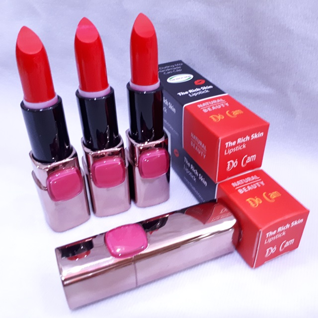 son duong moi co mau handmade chat luong cao The Rich Skin – Lipstick – lipbalm – matte lipstick – colour lipstick – clip care- natural thien nhien- mau do cam 17