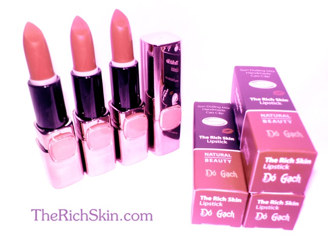 son duong moi co mau handmade chat luong cao The Rich Skin – Lipstick – lipbalm – matte lipstick – colour lipstick – clip care- natural thien nhien- mau DO NAU DO RUBY do gach 3