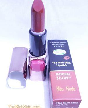 son duong moi co mau handmade chat luong cao The Rich Skin - Lipstick - lipbalm - matte lipstick - colour lipstick - clip care- natural thien nhien- mau NAU NUDE- nau dat