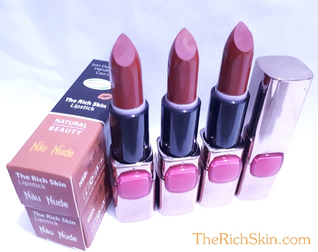 son duong moi co mau handmade chat luong cao The Rich Skin – Lipstick – lipbalm – matte lipstick – colour lipstick – clip care- natural thien nhien- mau NAU NUDE- nau dat 7
