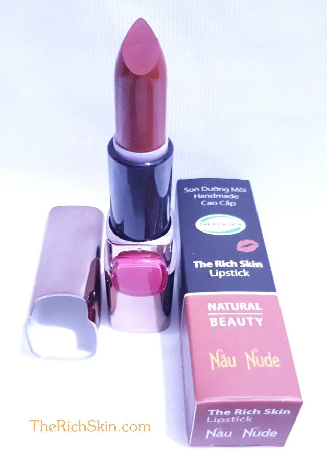 son duong moi co mau handmade chat luong cao The Rich Skin – Lipstick – lipbalm – matte lipstick – colour lipstick – clip care- natural thien nhien- mau NAU NUDE- nau dat