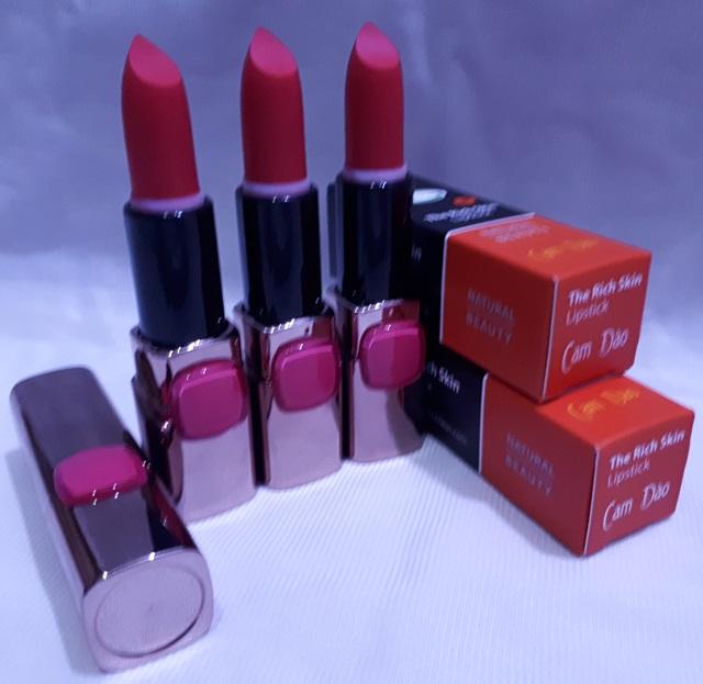 son duong moi co mau handmade chat luong cao The Rich Skin – Lipstick – lipbalm – matte lipstick – colour lipstick – clip care- natural thien nhien- mau cam dao 6