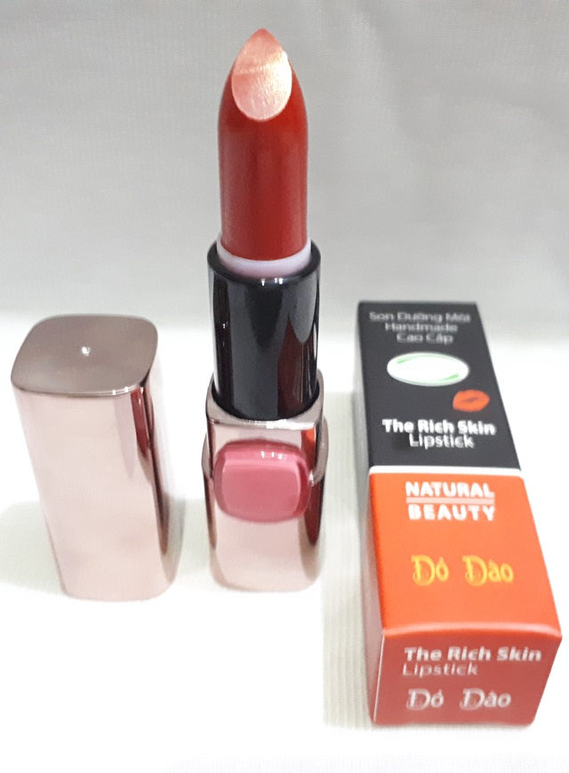 son duong moi co mau handmade chat luong cao The Rich Skin – Lipstick – lipbalm – matte lipstick – colour lipstick – clip care- natural thien nhien- mau do dao